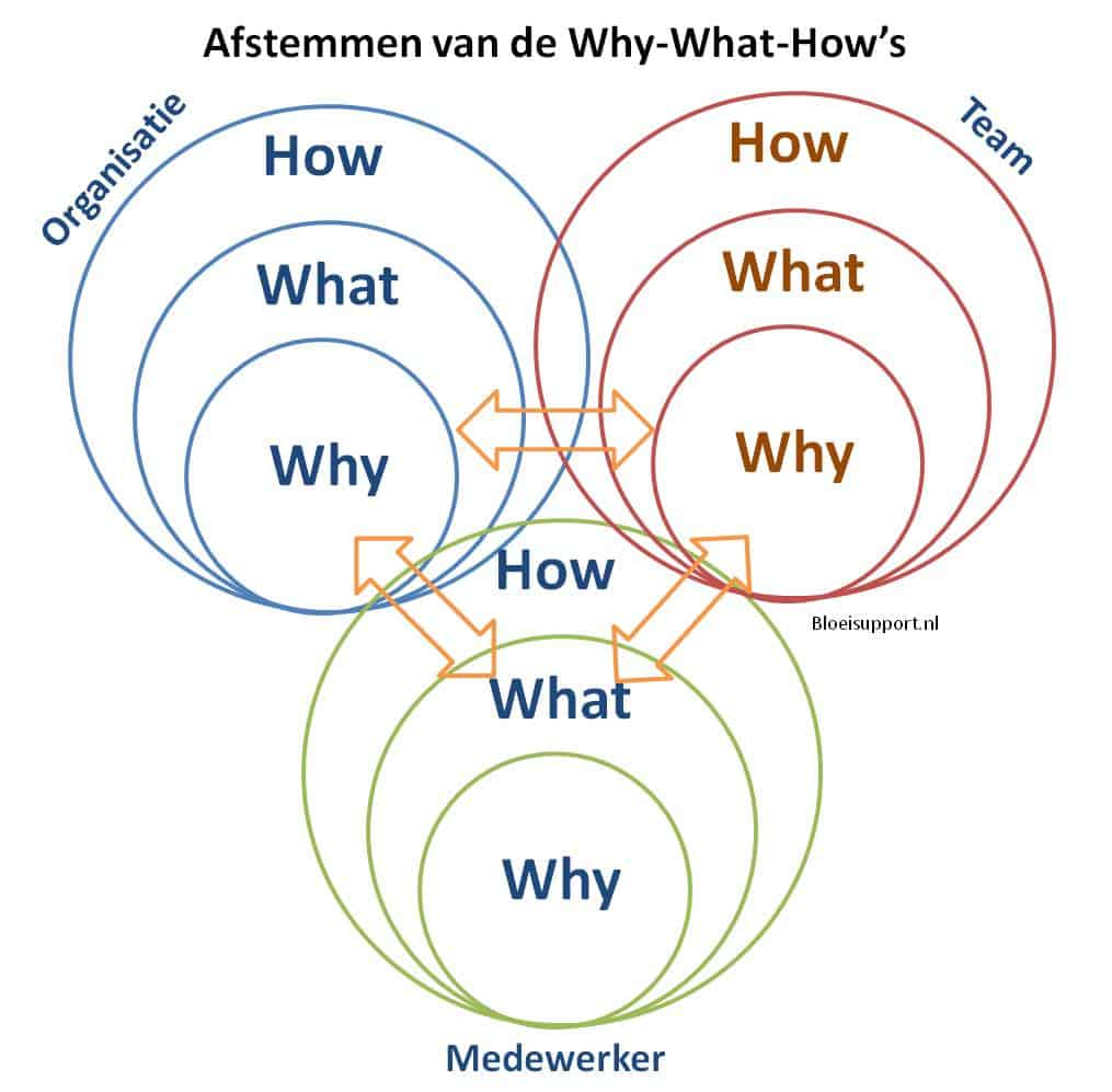 Afstemmen van de why-what-how tussen organisatie, teams en medewerkers - bloeisupport.nl